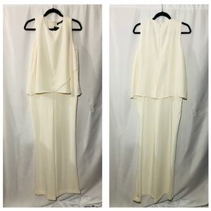 Ralph Lauren Formal sleeveless Ivory Romper